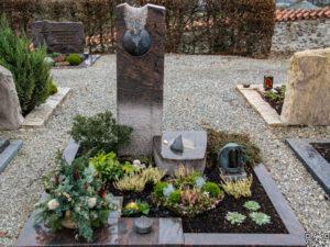 Doppelgrab_Nordland_Kugel_Sekment - Grabmal - Doppelgräber - Natursteine Schreiner - Allensbach