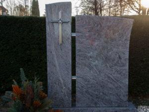 Doppelgrab_Orion-Hell_2-teilig - Grabmal - Doppelgräber - Natursteine Schreiner - Allensbach